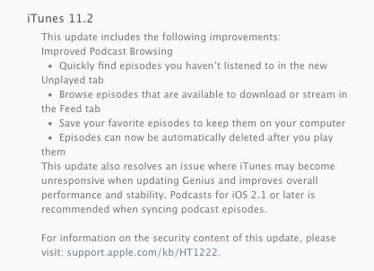 iTunes 11.2
