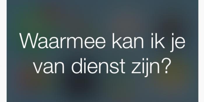 Siri spreekt Nederlands sinds iOS 8.3