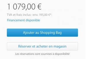 iPhone afhalen in een Franse Apple Store