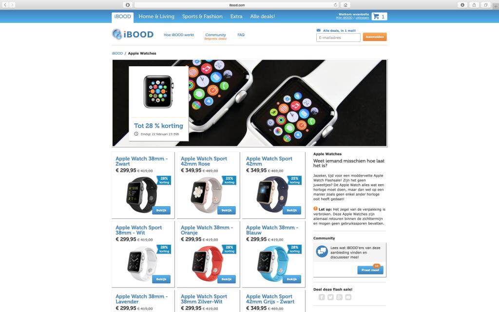 Apple Watch op iBOOD
