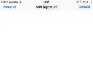 Handtekening toevoegen