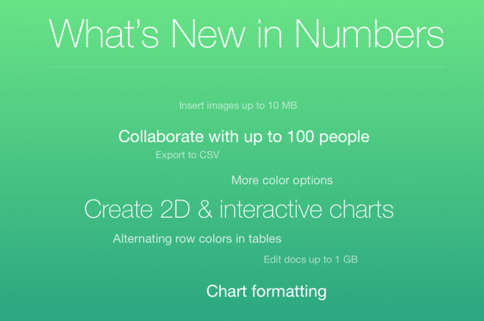 What's new in Numbers
