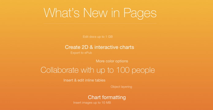 What's new in pages