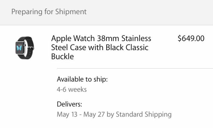 Apple Watch Pre-Order